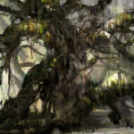 Jared Shear, painting, tree, digital, fantasy, art,