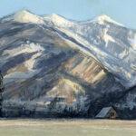 Jared Shear, cougar peak, Montana, art, painting, mountain, landscape, plein air, January