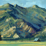 Jared Shear, cougar peak, Montana, art, painting, mountain, landscape, plein air, June