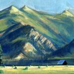 Jared Shear, cougar peak, Montana, art, painting, mountain, landscape, plein air, July
