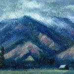 Jared Shear, cougar peak, Montana, art, painting, mountain, landscape, plein air, September