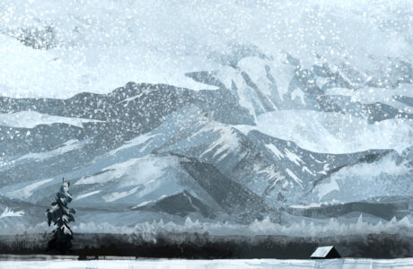 Jared Shear, cougar peak, Montana, art, painting, mountain, landscape, plein air, February