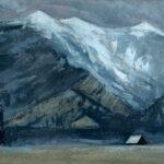 Jared Shear, cougar peak, Montana, art, painting, mountain, landscape, plein air, March