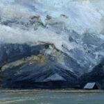 Jared Shear, cougar peak, Montana, art, painting, mountain, landscape, plein air, April