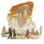 jared shear, the martian way, science fiction, illustration, art, painting, mars, asteroid, asimov,