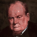 jared shear, churchill, winston churchill, portrait, painting, art,