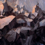 Echoriath, Hurin, Silmarillion, Tolkien, Jared Shear, digital art, rocks, fantasy,