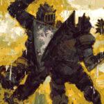 klunk, knight, battle, digital art, painting, Jared Shear, fantasy,