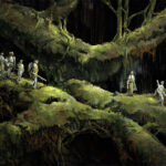 Jared Shear, digital art, science fiction, root world, roots, adventure, expedition