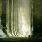 grand hall, digital art, painting, Jared Shear, fantasy art,