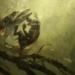 jared shear, redwall, escape the gloomer, stormfin, gloomer, rat, pike, fish, rodent, art, illustration, digital art, underwater, painting, game art, battle, adventure, fight,