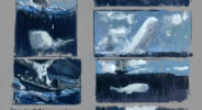 jared shear, art, illustration, whale, moby dick, sketches, sea, ocean, ship, marine art,